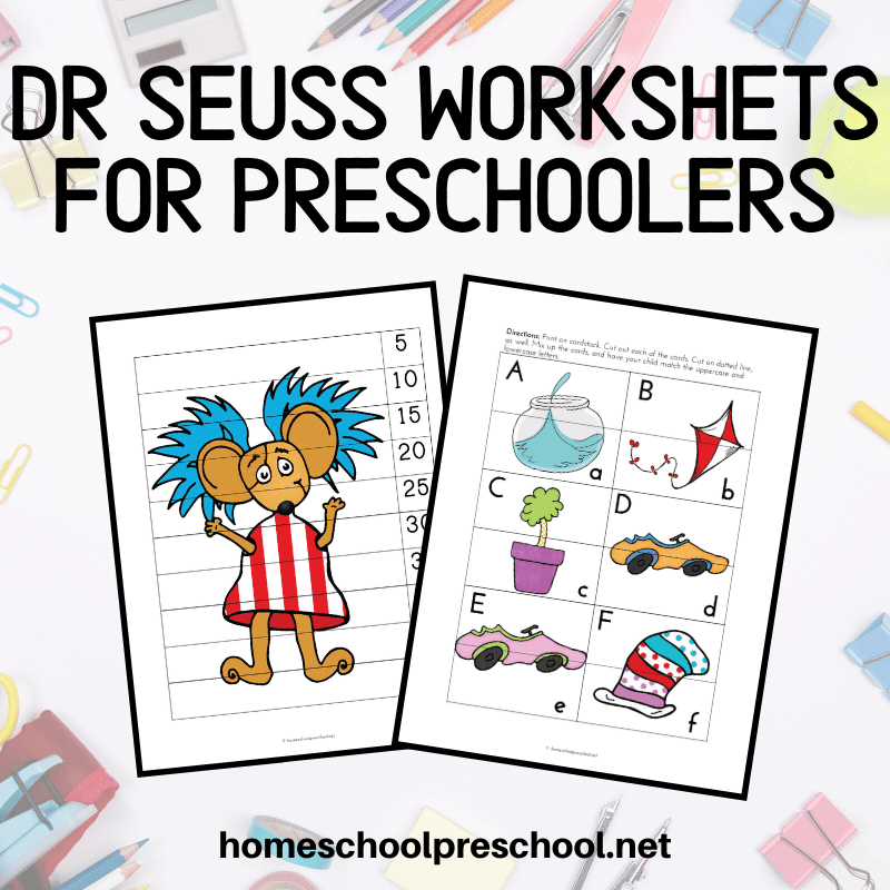 You can use these Dr Seuss worksheets to celebrate Dr Seuss birthday or any day. Kids love Dr Seuss and they'll love these activities!