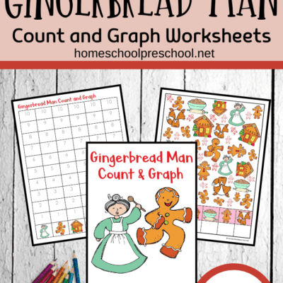 Gingerbread Man Count and Graph Worksheets