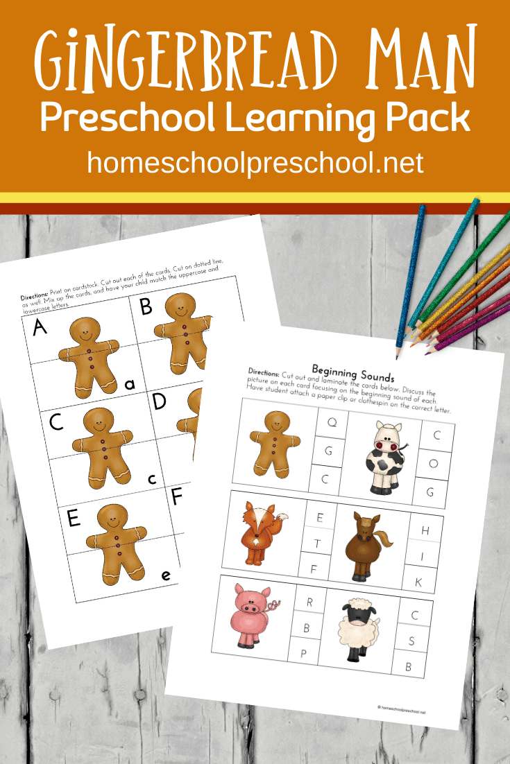 Free Printable Gingerbread Theme Preschool Pack