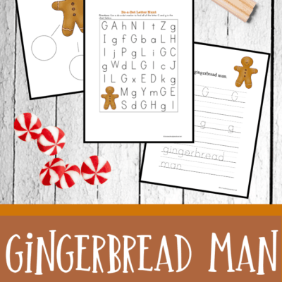 Gingerbread Theme Preschool Pack
