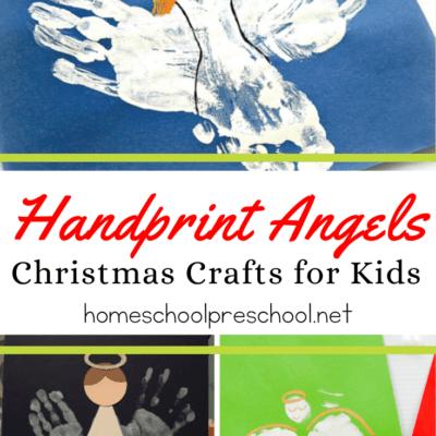 Handprint Angels Christmas Crafts