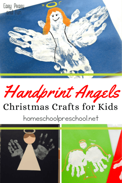 These handprint angels Christmas crafts are sure to become treasured keepsakes. They are perfect for preschoolers and look lovely on display!