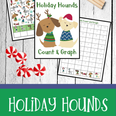 Holiday Hounds Count and Graph Printables
