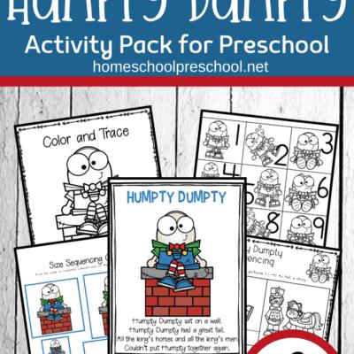 Humpty Dumpty Activities for Preschool