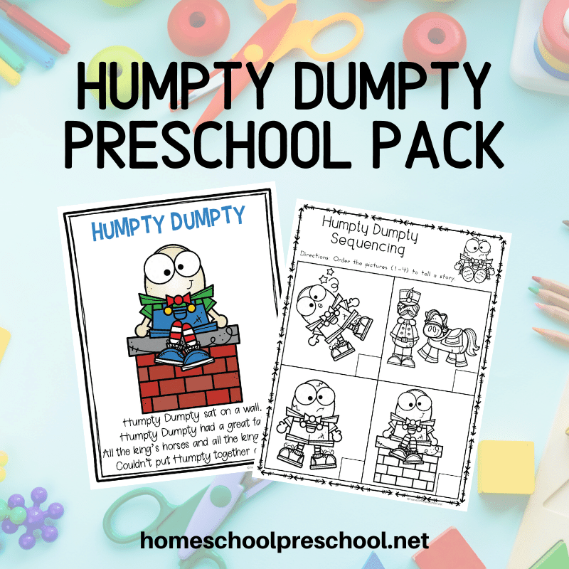 TheseHumpty Dumpty activities for preschool are designed to be used with children ages 3-7. This unit includes a variety of worksheets and activities.