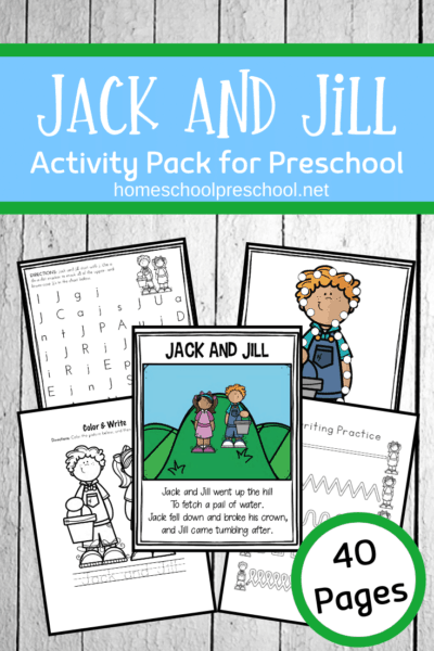 These Jack and Jill activities for preschool are designed to be used with children ages 3-7. This mini unit includes a variety of worksheets and hands-on activities.