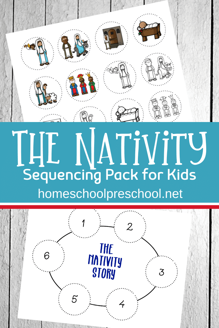 Preschoolers will learn the nativity story with these nativity sequencing pictures. This free set is perfect for preschool Christmas activities.