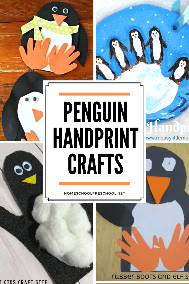 These penguin handprint crafts make great keepsakes! Preschoolers and kindergarteners will love making these simple crafts this winter.