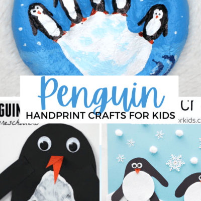Penguin Handprint Crafts