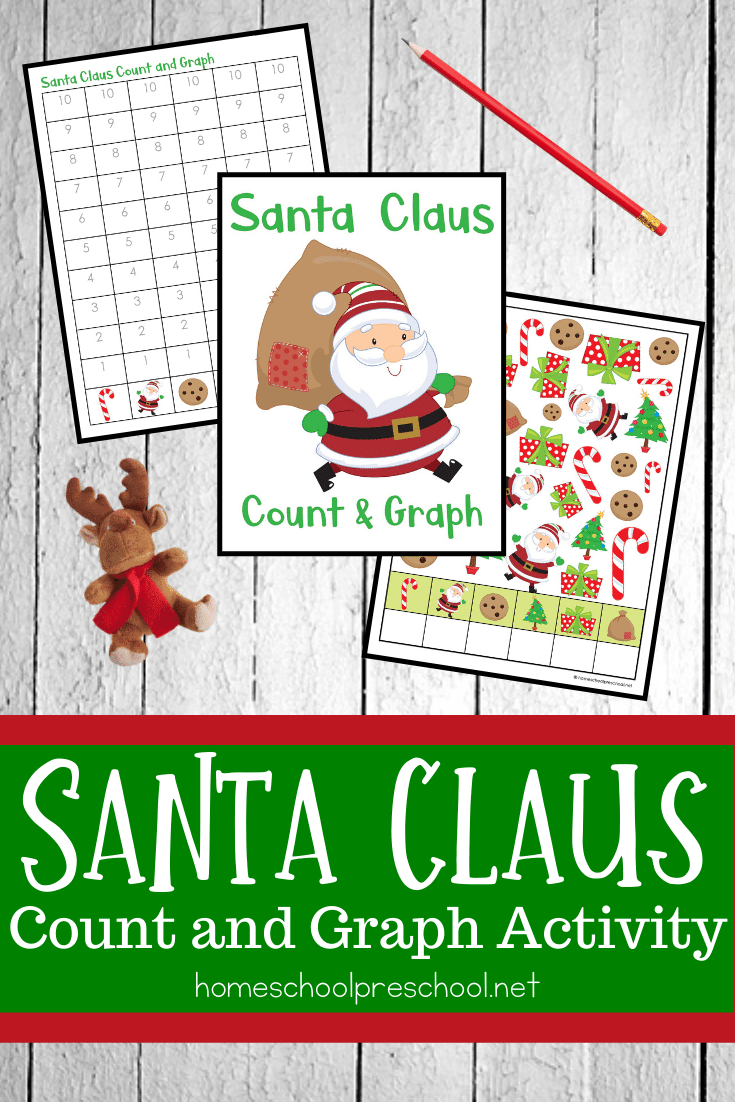 Don't miss these Santa count and graph worksheets! They will make a great addition to your Christmas math centers at home or in the classroom.