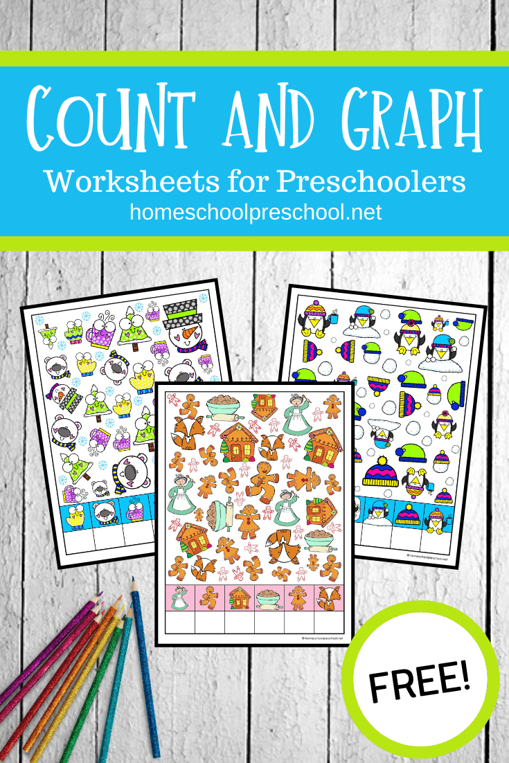 Thesecount and graph worksheets are perfect for home and classroom educators! These activity pages are the perfect building block for early math skills!