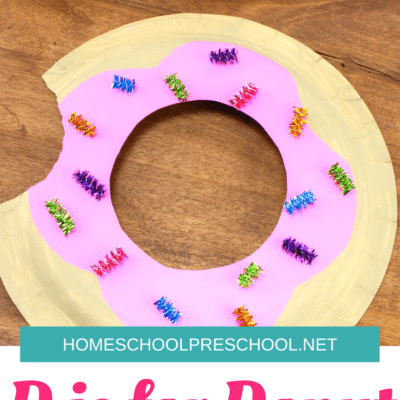 Donut Paper Plate Craft for Kids