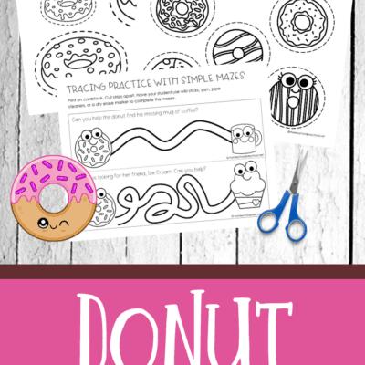 Donut Fine Motor Activities Pack