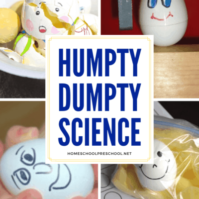 Humpty Dumpty Preschool Science Activities