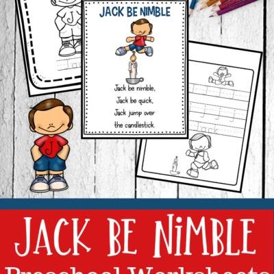 Jack Be Nimble Activities