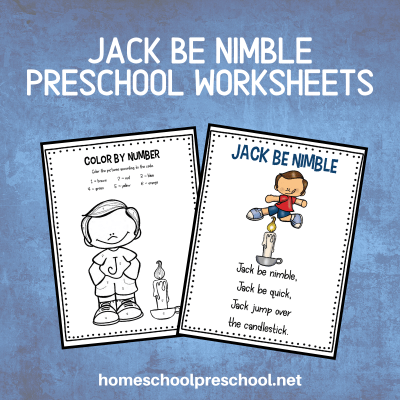 This pack of Jack Be Nimble activities is perfect for kids ages 3-7. This unit includes a variety of math and literacy activities preschoolers will love.