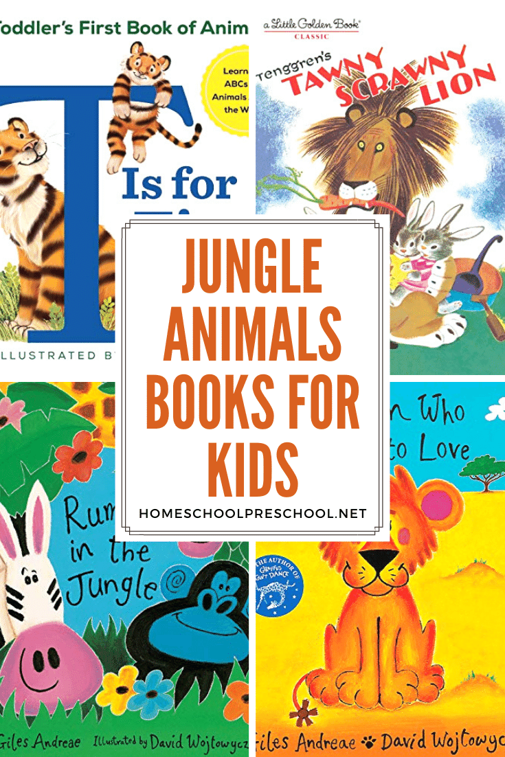 As you head into a study of the jungle or animal habitats, fill your shelves with a few of these jungle animal books for preschoolers.