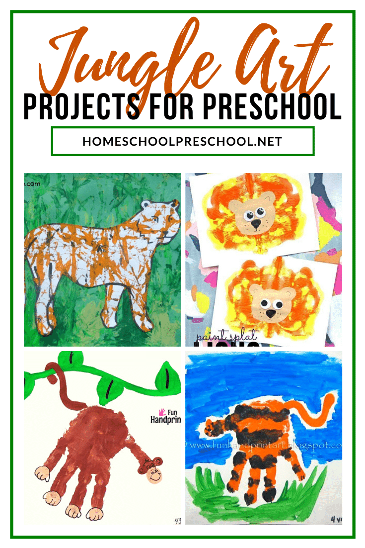 Take a break from crafting and have your little ones try on of these jungle art projects for preschoolers! They'll love exploring different art styles.