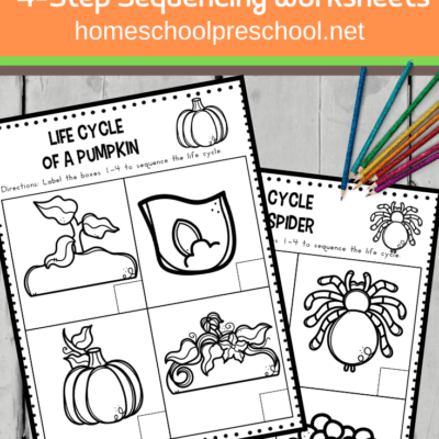 Life Cycle Sequencing Worksheets