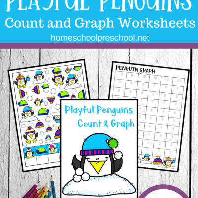 Penguin Count and Graph Worksheets