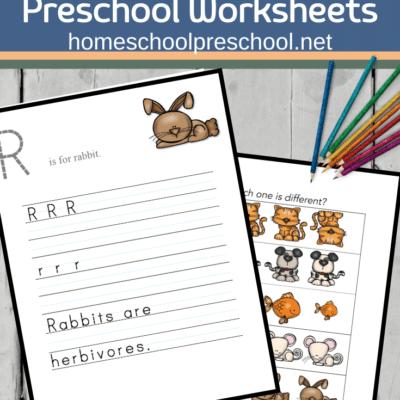 Printable Pet Activities for Preschool