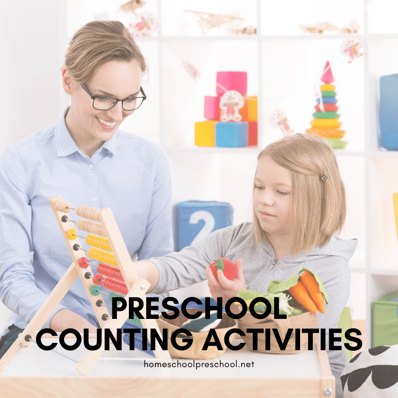 Thesepreschool counting activities are perfect for home and classroom educators! These activities are the perfect building block for early math skills!