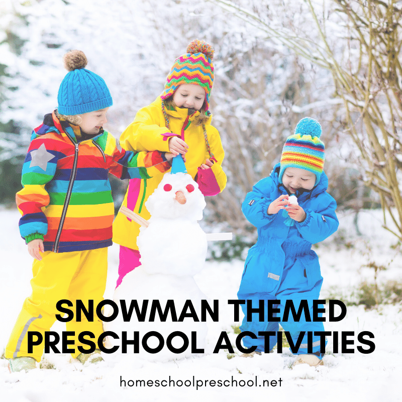 These snowman activities for preschool are perfect for your winter preschool plans. There are lots of ideas to get you through the season.