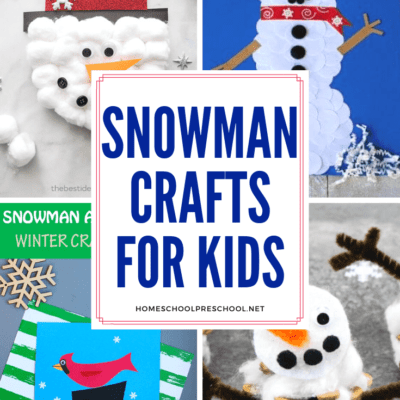 Snowman Preschool Crafts