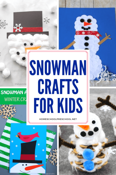 This winter, give these snowman preschool crafts a try. Your kids will love making melted snowmen, paper crafts, and more!