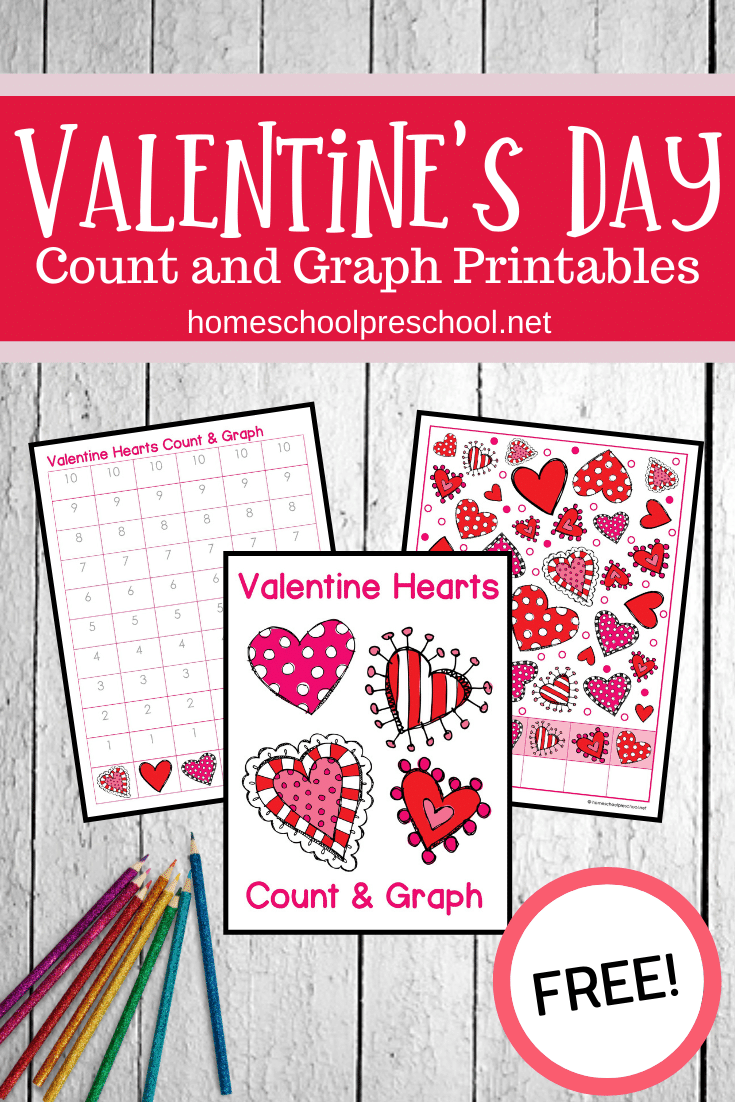 As we head into February, be sure to download these valentine count and graph worksheets. They're perfect for preschool and kindergarten kiddos.