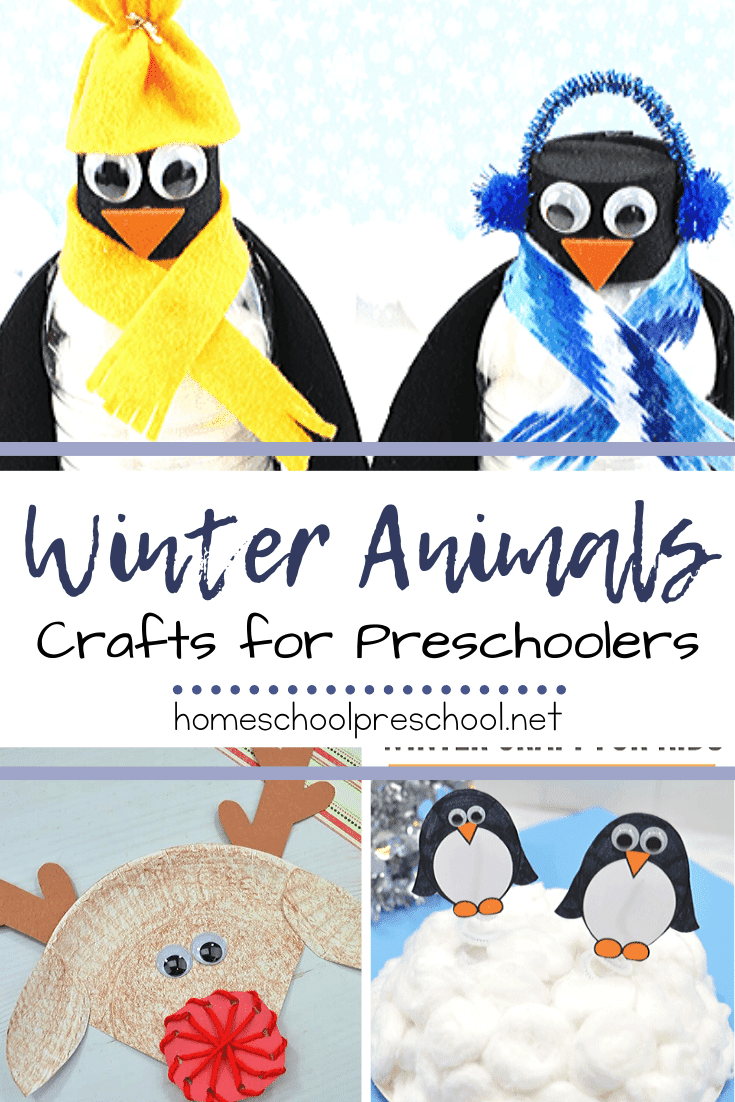 These winter animal crafts will be perfect for your cold weather lessons. From penguins to polar bears and more, these crafts are perfect for preschoolers!