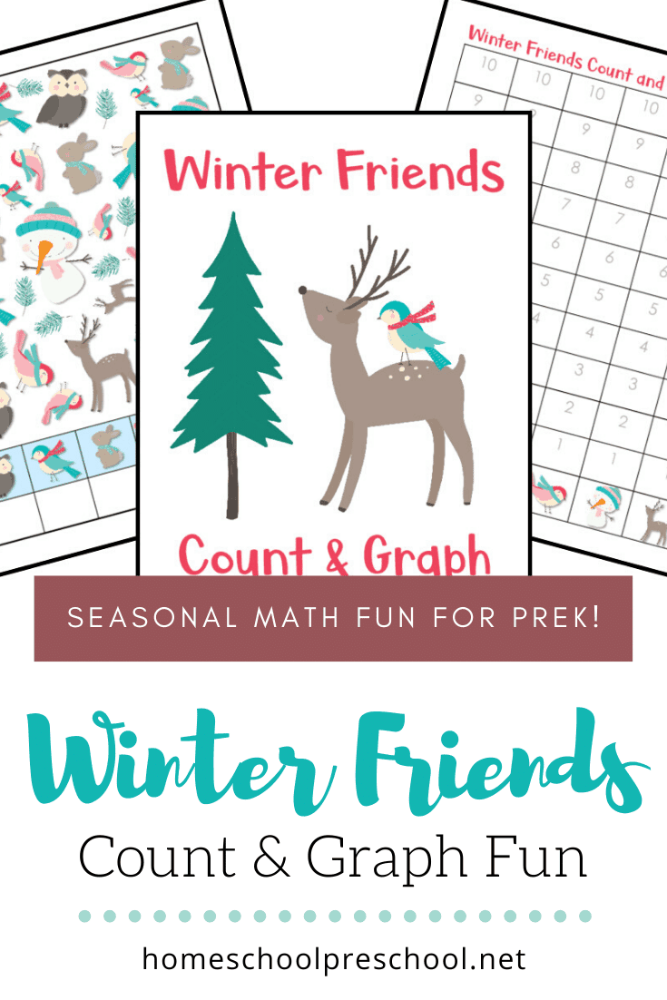 Add this engaging Winter Friends Count and Graph activity to your preschool and kindergarten math centers. Count to 10 and graph the results!