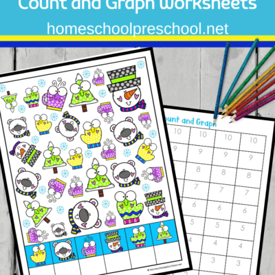 Winter Fun Count and Graph Worksheets