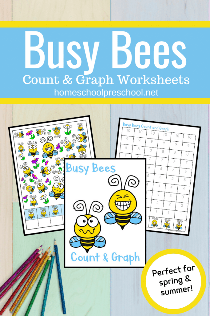 If you're teaching bees this spring or summer, be sure to add these fun busy bees count and graph worksheets to your activities!