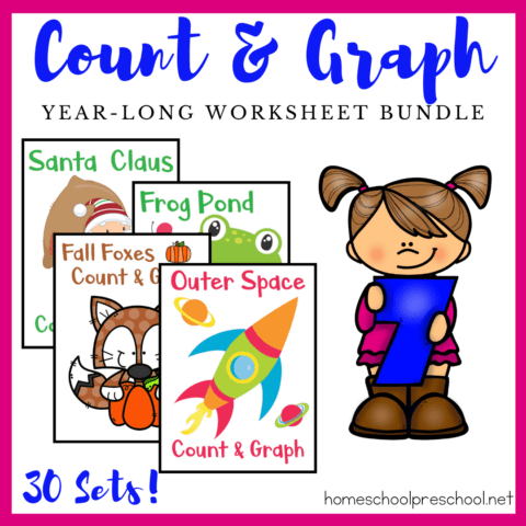 These colorful count and graph worksheets are a great way to practice counting and graphing skills all year long. Choose from 30 themes.