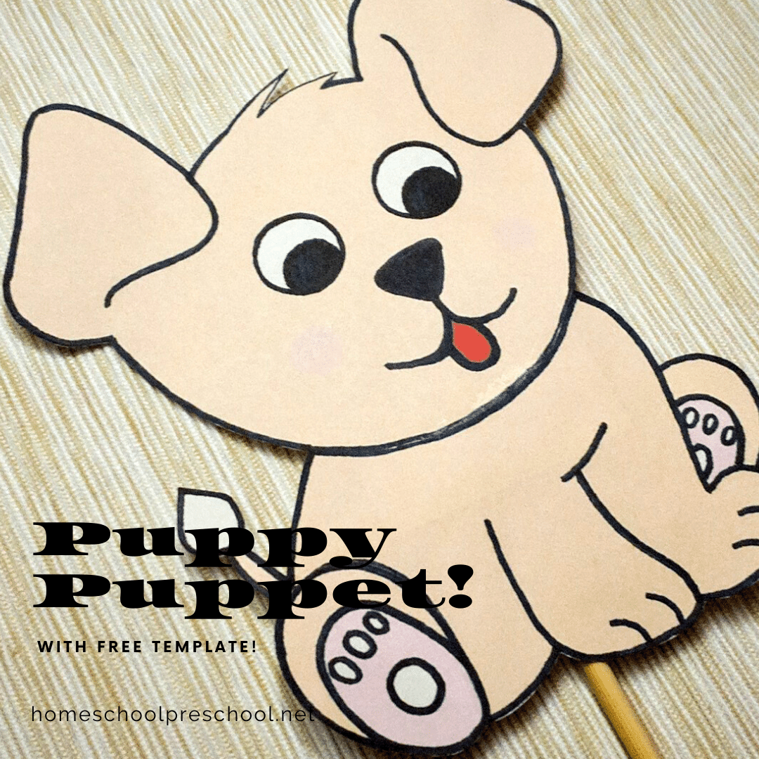 This preschool dog craft is so cute! Kids can use the puppy puppet to act out their favorite dog-themed stories. It's sure to inspire tons of fun!
