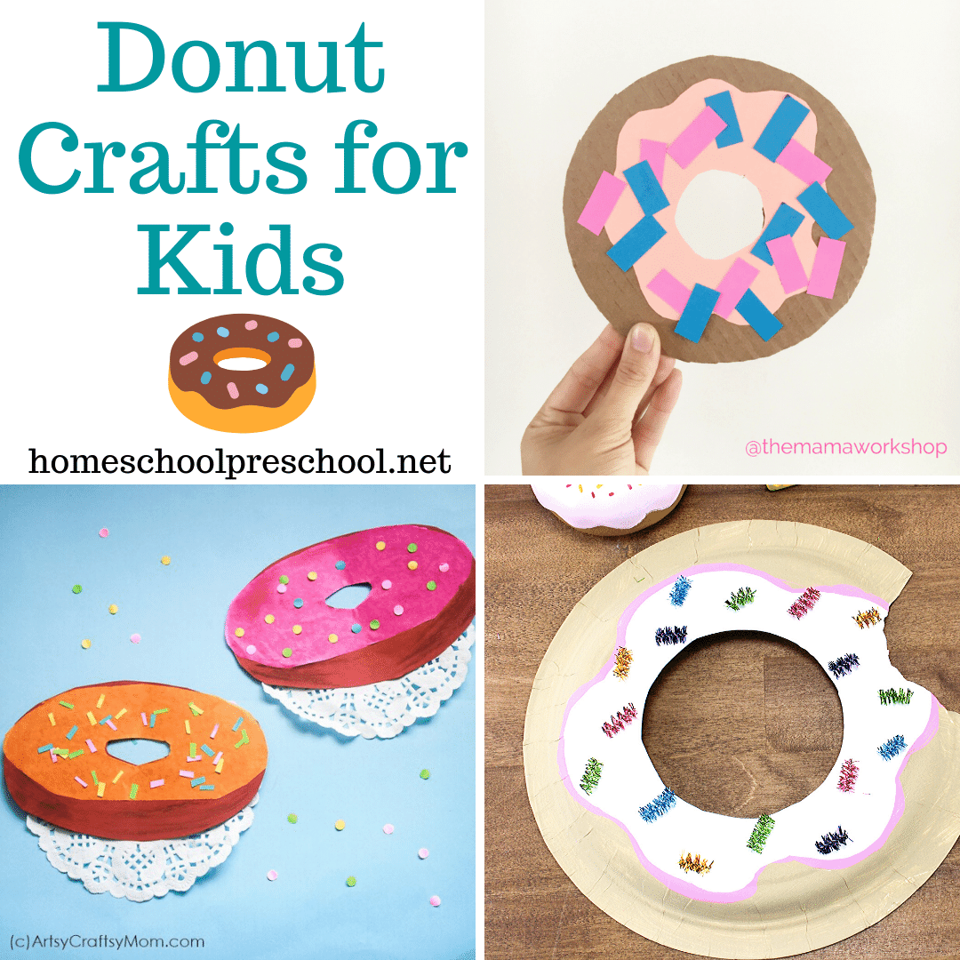 Whether you're looking for a craft for National Donut Day (June 5) or just something fun to do with your kids, don't miss these donut crafts for preschoolers!