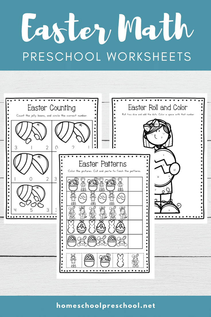 Download these Easter math worksheets for preschool to use with your little ones this spring. They'll work on number recognition and counting!