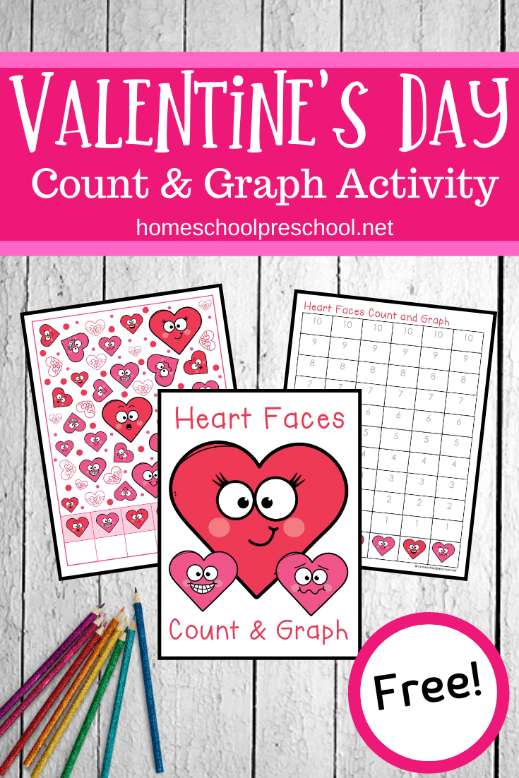 Valentine's Day is just around the corner. Practice counting to ten and graphing the results with this fun Valentine Heart Count and Graph activity.