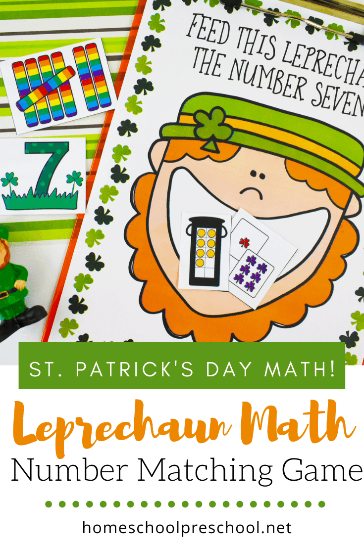 Preschoolers will love working on number sense and counting to ten with this awesome St Patricks Day math Feed the Leprechaun game!