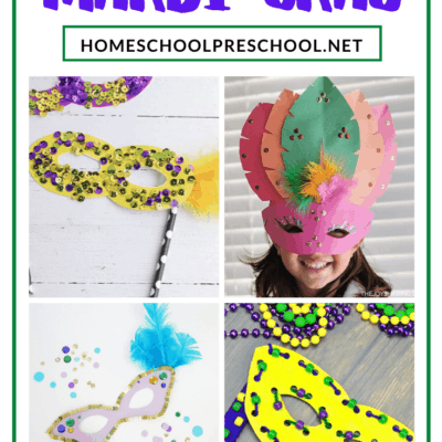 Paper Mardi Gras Masks