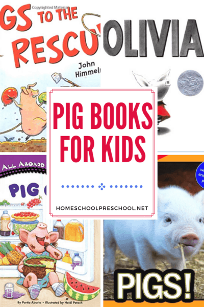 Preschoolers will squeal with delight when you present them with this collection of pig books for preschoolers. Perfect for your farm-themed lessons!
