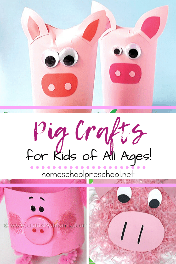 Add one or more of these simple pig crafts for preschoolers to your farm or animal themed activities. Also perfect for National Pig Day on 3/1!