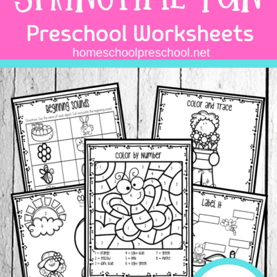 Spring Worksheets for Preschool