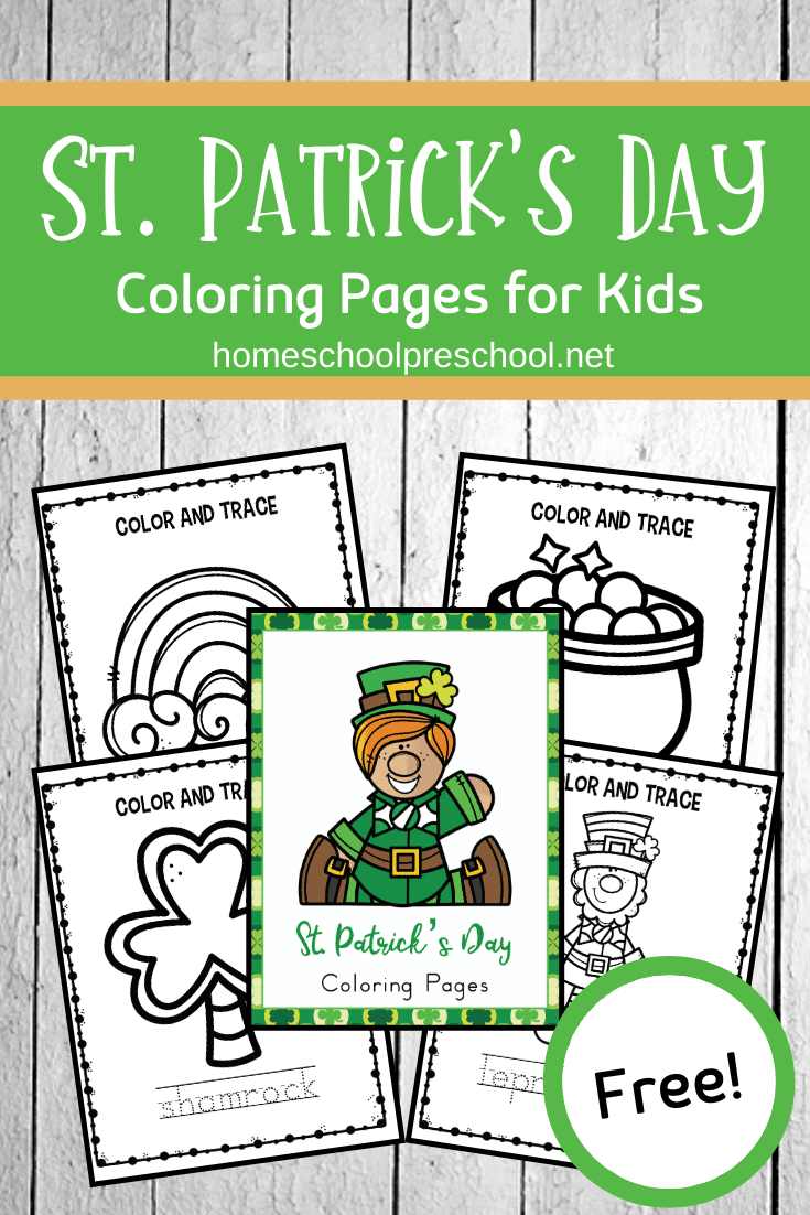 This set of St Patrick's Day coloring pagesis perfect for preschoolers! The simple graphics allow little ones to work on fine motor skills as they express their creativity!