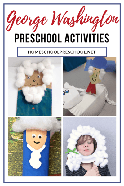 During February, as you study the presidents, be sure to check out these preschool George Washington activities! Perfect for Washington's birthday, too!