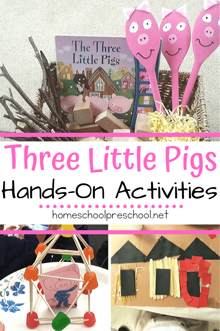 Your kids will love diving deep into the story with these hands-on Three Little Pigs preschool activities! Worksheets, STEM challenges, and crafts galore!