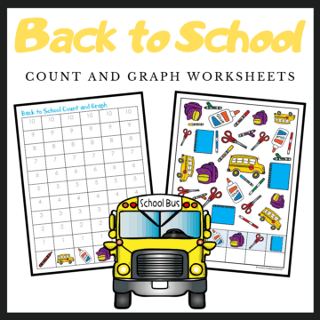 This back to school count and graph activity is a great way to practice counting and graphing skills during the summer and fall.