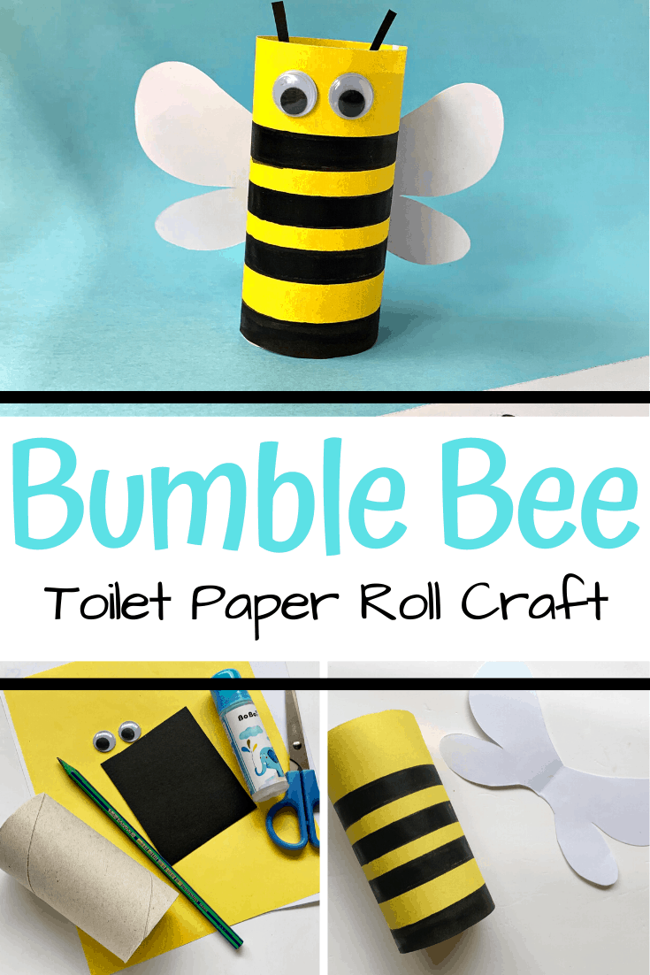 This adorable toilet paper roll bee craft for preschool is a fun hands-on activity for preschoolers to create when you study bees this spring.