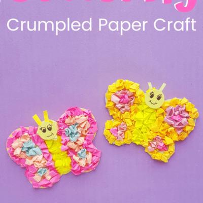 Tissue Paper Preschool Butterfly Craft